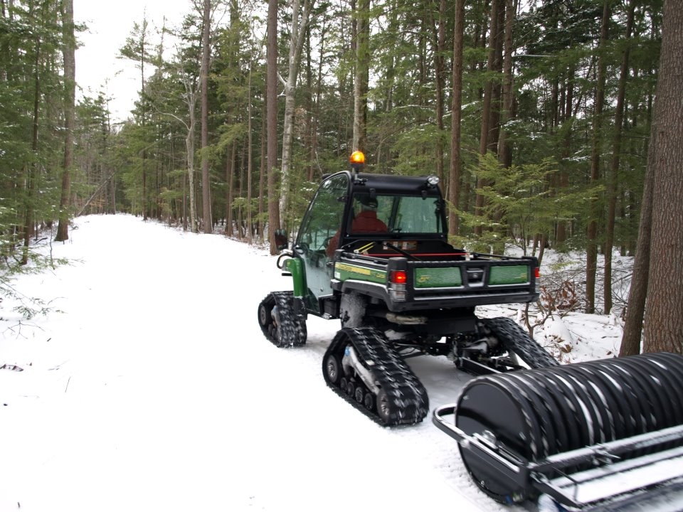 Groomers smooth 30 miles of cross-country ski trails above ...  Cross Country Ski Trail Grooming